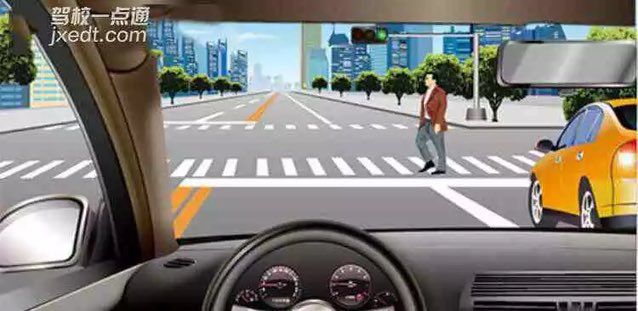 驾照科目四模拟考试题插图(7)