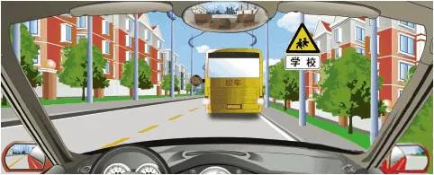 驾照科目四模拟考试题插图(35)