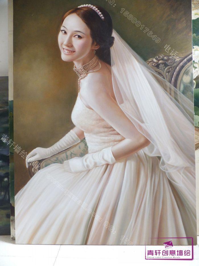 油画婚纱照