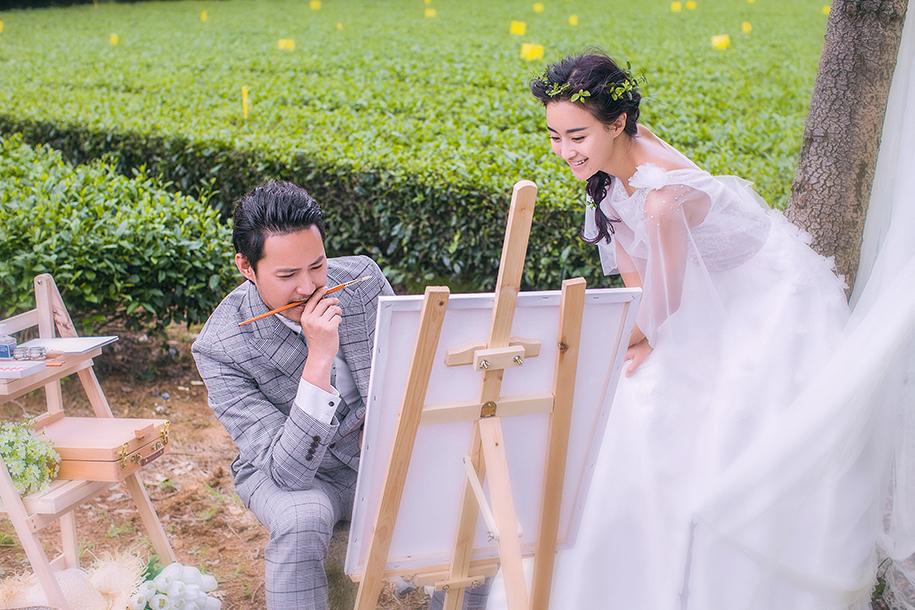 田园婚纱照