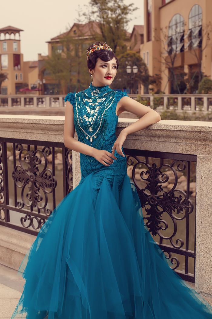 蓝色婚纱照